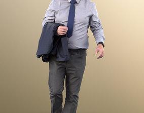11329 Phil - Old Businessman standing bald beard 3D asset