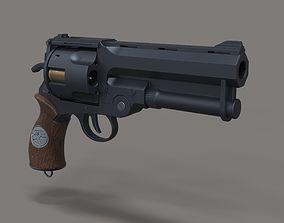 3D model Samaritan revolver from movie Hellboy