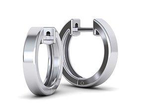 Delicate Fine Hoop Earrings 15mm 3mm wide 3D print model