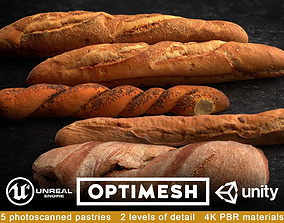 Baguette 3D PBR Pack game-ready