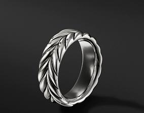 3D printable model David Yurman Chevron Band Rings in EU