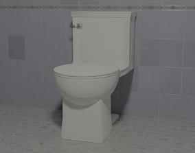 Toilet 3D model realtime PBR