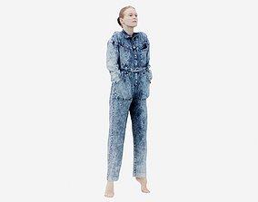 3D asset Jeans Salopet 009