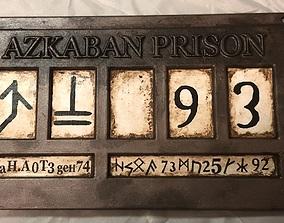 3D printable model Azkaban Prison Sign