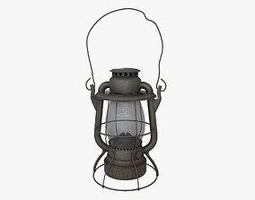 3D asset low-poly Old Kerosene Lantern