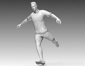 Footballer 02 Rigged PBR 3D asset