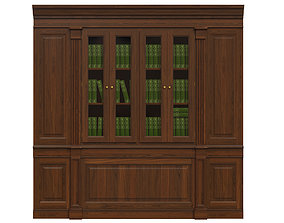 3D Built-in bookcase 1500