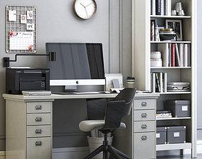 3D ikea Office workplace 10