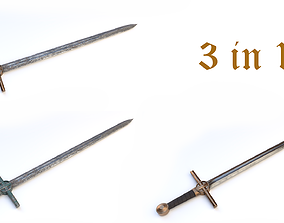 Knights sword 03 3D model