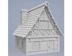 Medieval house 3D print model