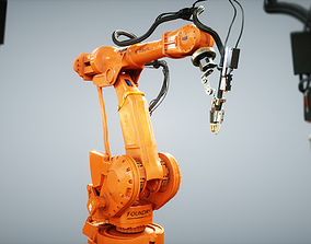 3D model realtime Industrial Robot IRB