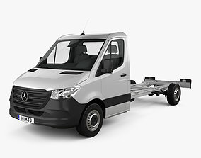 3D model Mercedes-Benz Sprinter W907 Single Cab Chassis L3