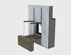 3D asset Medieval drawbridge gate with animation