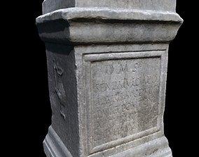 Roman votive altar low-poly 3D model