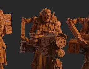 Infantry Kolass Chaingun Squad 3D Model Print