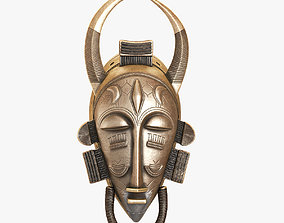 African Baule Sun Mask 3D asset