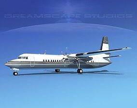 3D model Fokker F-60 Corporate 6