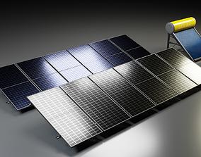 Solar Panel Solar Heater industrial 3D model