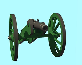 3D model Artillery 8 pound Gun 18th century