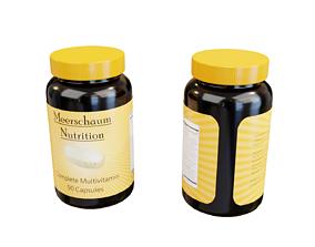 Vitamin Bottle 3D model low-poly