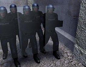 3D asset Police Riot Officer