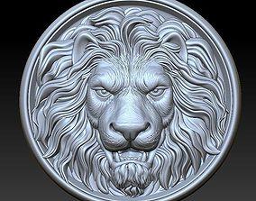 3D door lion head