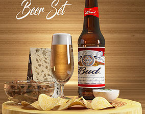 Beer Set 3D model