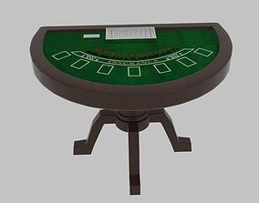 3D Black Jack Table