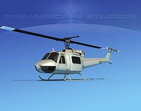 Bell UH-1B Iroquois Unmarked Military 3D model