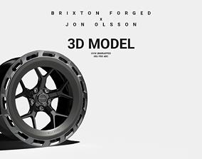 Brixton Forged x Jon Olsson Wheel Rim 3D Model