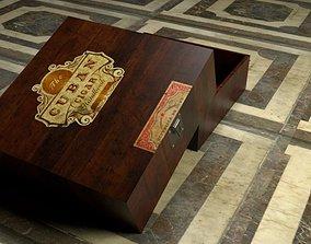 Cuban Cigar Box 3D asset