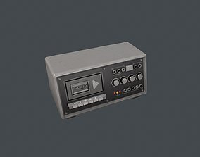Grey Police Tape Recorder 3D model