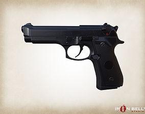 3D model AAA FPS Beretta M9 Pistol Game-Ready