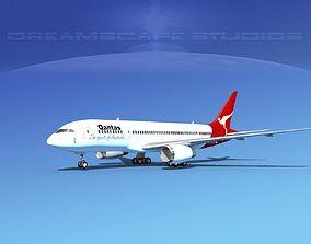 3D Boeing 787-8 Qantas