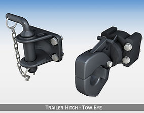 auto 3D Trailer hitch - Tow eye