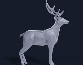 Low Poly Deer 3D model realtime