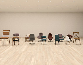 3D model 14 Chair collection For Revit