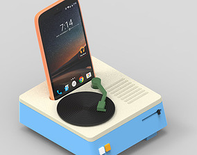 Bluetooth speaker with phone 3D