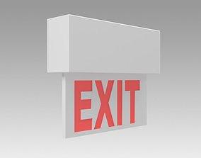 Exit Sign details 3D