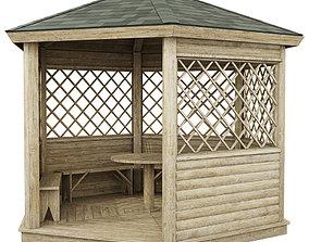 3D Garden Gazebo made of wood garden
