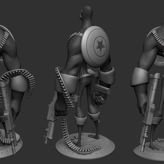 Captain America Stylized character