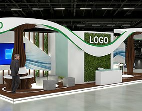 3D EXHIBITION STALL 12x4Mtr Three side open stall