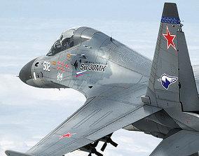 Su-30M2 3D model animated