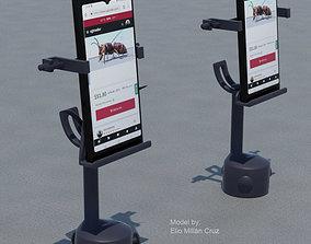 Cell phone Holder for car cupholder 3D printable model