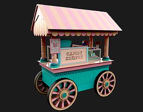 Candy Cart 3D model