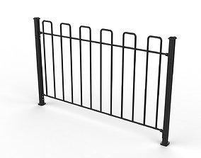 3D model Fence Metal 02