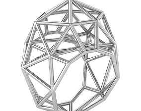 Geometry Tech Style Ring 3D Print Model