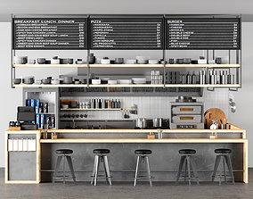 3D openkitchen restaurant 01