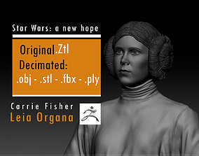 3D print model Carrie Fisher - Leia Organa - Star Wars A 1