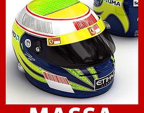 Helmet F1 2009 Felipe Massa 3D